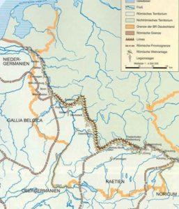 Лимес между Рейном и Дунаем