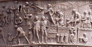 Легионеры строят укрепления (барельеф с колонны Траяна в Риме)