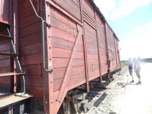 Демонстрационный вагон для перевозки евреев в Биркенау