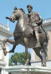 Конная статуя Марка Аврелия в Риме