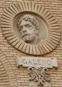 Барельеф Галена в университете Сарагосы