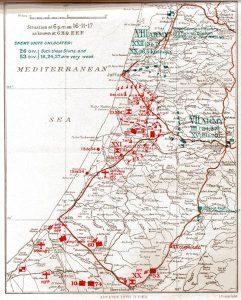 Карта линии фронта на 16.11.1917 г.