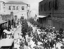 Парад индийской кавалерии в Нижнем городе