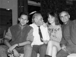 Калантаров с сотрудниками в лаборатории радиоизотопной диагностики ГКБ № 50 (1970-ые гг.)