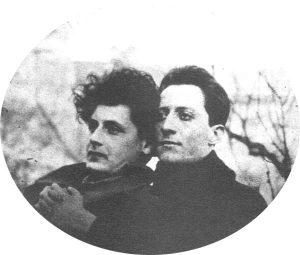 Перец Маркиш и Ури Цви Гринберг. Варшава, 1922 г.