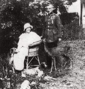 Зофья Налковска с мужем Яном Горжеховским. Гродно, 1924 г.