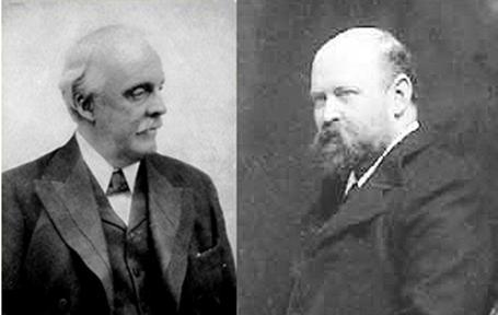 Мистер Бальфур (слева) и лорд Ротшильд