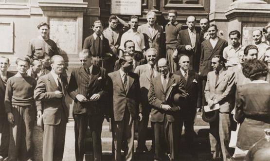 Члены Комиссии во время посещения Вены