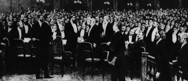 На открытии Первого сионистского конгресса