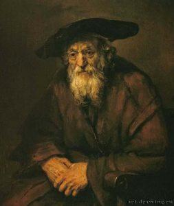 Портрет старого еврея, 1654 г.
