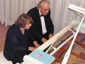 Пианисты Фаина Хармац и Михаил Бурштин