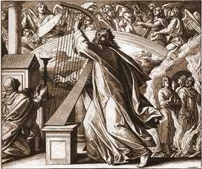 Юлиус фон Карольсфельд. Царь Давид, играющий на арфе.