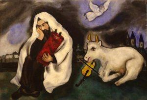 Марк Шагал. Еврей со свитком Торы.