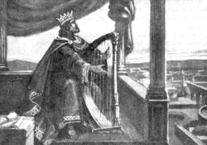Царь Давид, играющий на арфе.