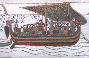 Изображения норманнских драккаров на гобелене из Байё (XI в., Нормандия)