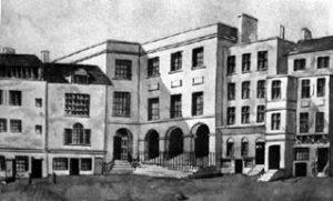 Great Synagogue. Рисунок тушью 1820 год