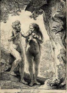 Рембрандт Гарменс ван Рейн. Адам и Ева