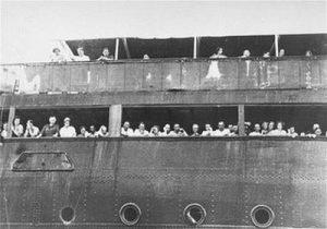 Беженцы на лайнере «Сент-Луис» у берегов Кубы