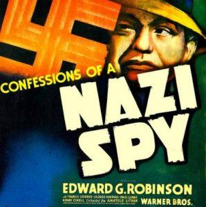 Афиша фильма «Признания немецкого шпиона»;