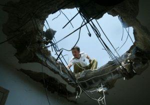 """Дом в Кирьят-Шмоне, пострадавший от обстрела """"Хизбаллы"""""""