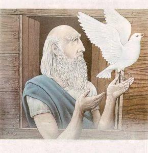 Ной с голубем
