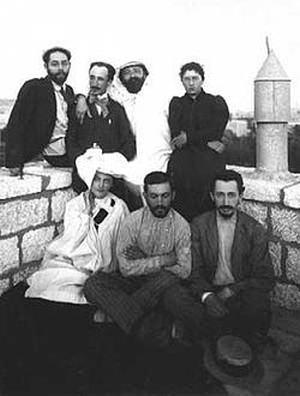 Художническая коммуна «Новый Иерусалим». Внизу слева Ира Ян (1908 г.)
