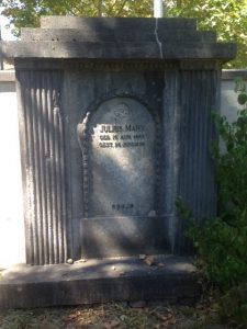 Могила Юлиуса Маркса на еврейском кладбище Фрайбурга