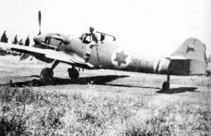 Один из закупленных в Чехословакии истребителей Avia S-199 (Messerschmitt Bf 109)