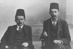 Давид Бен-Гурион и Ицхак Бен-Цви, студенты стамбульского университета, 1914 год