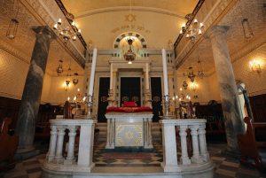 Гибралтар. Nefutsot Yehuda Synagogue. Интерьер