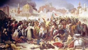 Эмиль Синьоль. «Захват Иерусалима, Первый Крестовый поход, 1099» (1847)