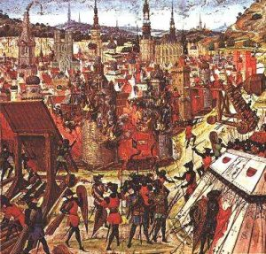 Взятие Иерусалима крестоносцами в 1099. Миниатюра XIV или XV вв.