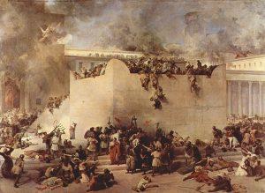 Франческо Хайес. «Разрушение Иерусалимского храма» (1867)