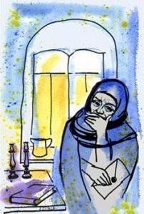 Иллюстрация С. Раскина к рассказу Шмуэля-Йосефа Агнона «Тэила»