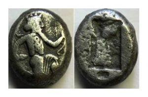 Сиглос персидского царя Артаксеркса I (455–420 г. до н. э.)