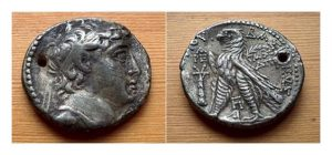 Тирская тетрадрахма селевкидского царя Деметрия II (130–125 до н.э.)