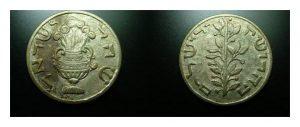 Собственно «горлицевский» шекель, посеребренная латунь, 33 мм, 9.21 г, США, конец XIX в.