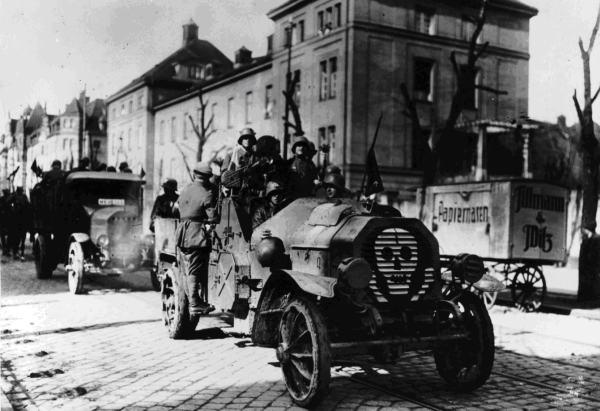Мюнхен, май 1919 г. Правительственные войска в городе