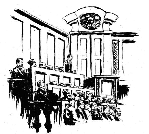 Заседание мюнхенского суда. Cентябрь1919 г.