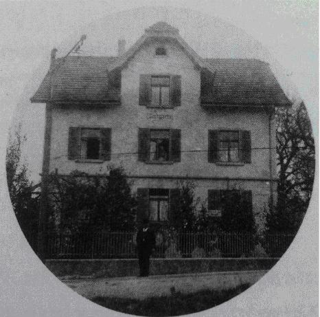 Цюрих, район Дитикон. Дом семьи Платтен, где жил М. Левин
