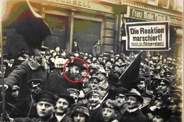 Мюнхен. Курт Эйснер на демонстрации 6 февраля 1919 г. Фото Ф. Гартля
