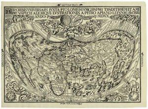 Карта немецкого астронома Петера Апиана 1920 года