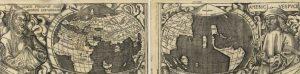 Птолемей и Веспуччи на карте Вальдземюллера 1507 года. Ни тот ни другой никаких частей света не открывали, только описывали.