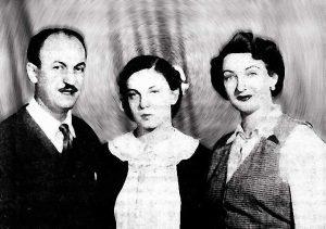 Эдди Рознер, Рут Каминская и их дочь Эрика, 1954 г.