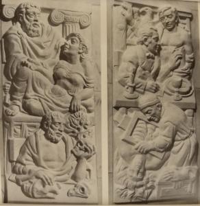 История медицины. Два рельефа.