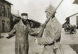 1915 г. Польща. Хасид и немецкий солдат