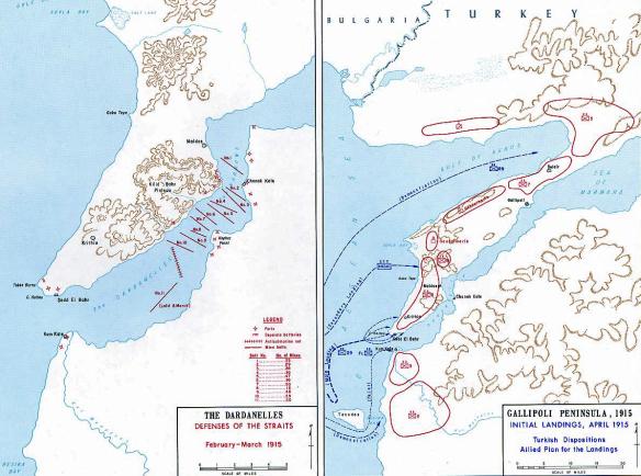 Карта Дарданельской операции
