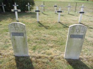 Франция, Хауданвиль. Amédée Rothstein and Abraham Schronn, Французский национальный некрополь в Ходенвиле. Оба погибли за Францию.