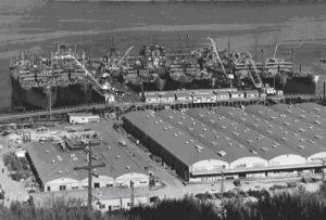 Комплектовочные доки для 6 кораблей в Саусалито
