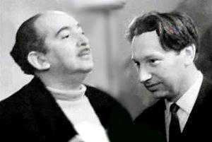 А. Галич и В. Фрумкин. Новосибирск, 1968